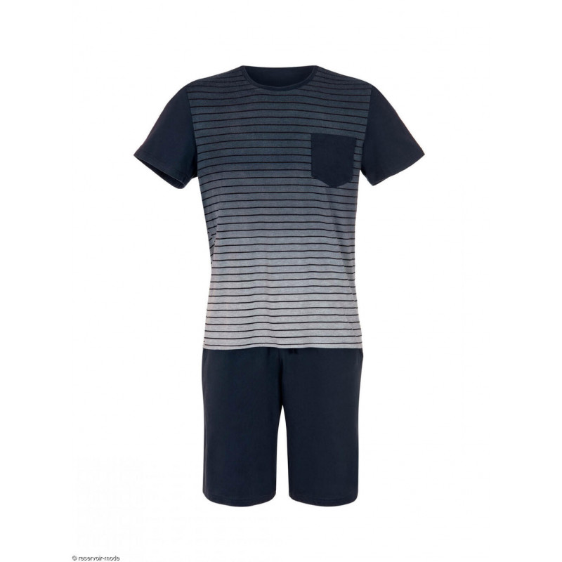 Pyjama short t-shirt Attis bleu Lisca Men 35017LI