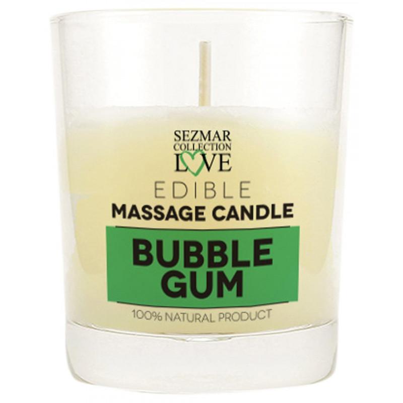Bougie de massage Bubble Gum 100ml - SEZ054